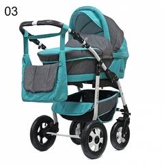 Детская коляска FENIX PCOF (3 в 1) (BartPlast) изумруд/серый 03