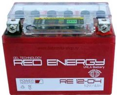 Аккумулятор 12V 4Ah (RE1204)  RED ENERGY с индикатором заряда