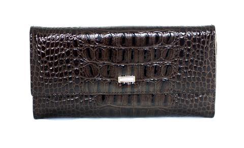Кошелёк коричневый женский Coscet нат.кожа CS21-301C
