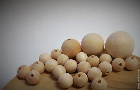 056-9879 Бусина деревянная, 3 см