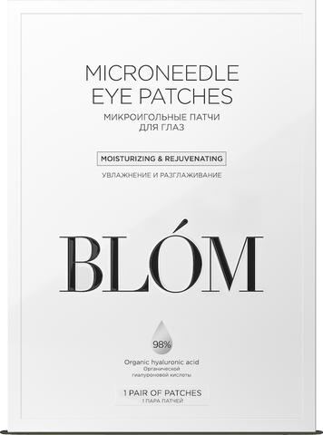 BLOM | Микроигольные патчи для кожи вокруг глаз с гиалуроновой кислотой / 1 пара