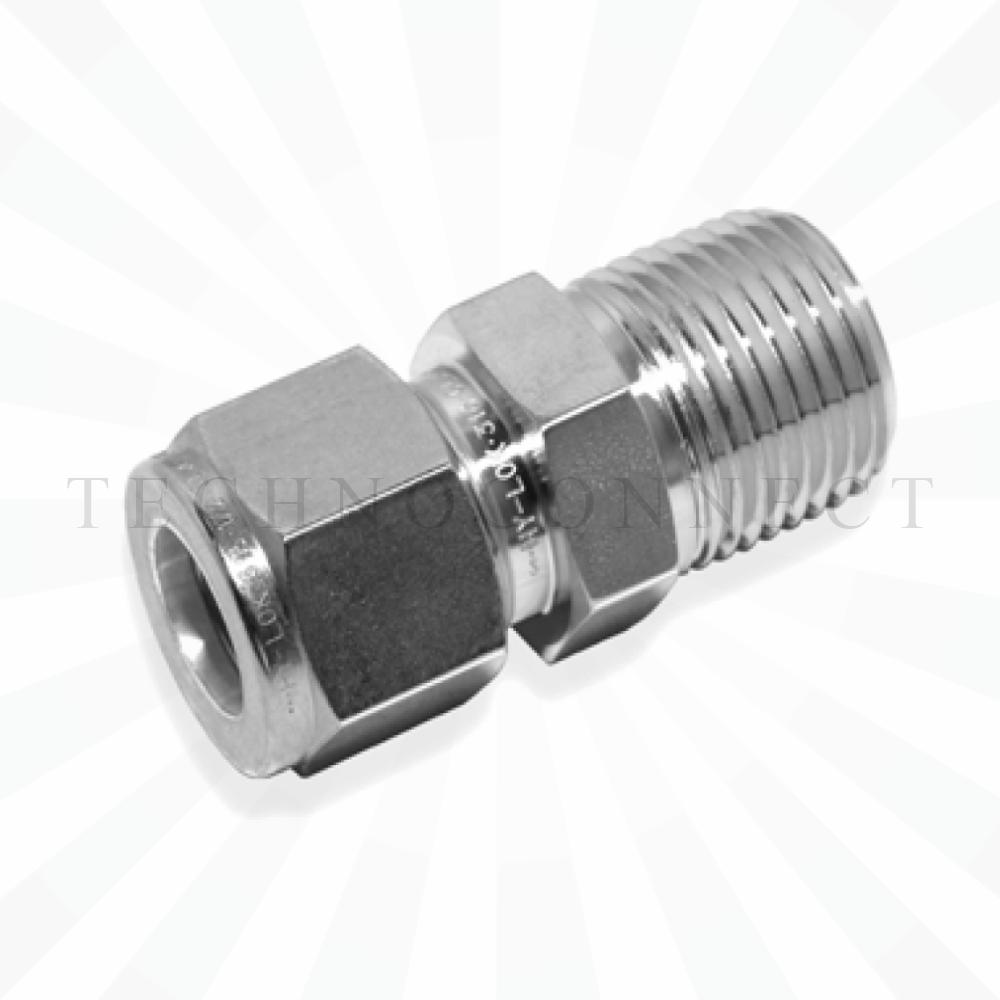 CMC-4-4N  Штуцер прямой: дюймовая трубка 1/4