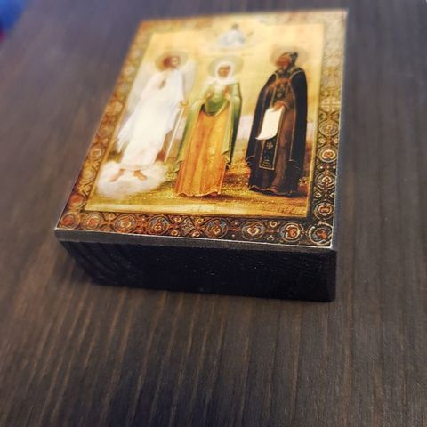 Икона святая Наталия с Ангелом Хранителем и святым Прокопием мастерская иконный дом