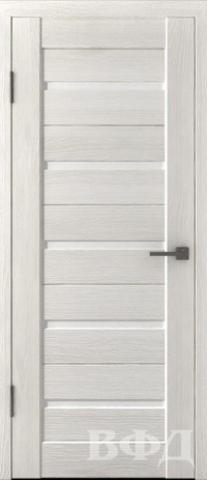 Дверь Владимирская фабрика дверей Л1ПГ5 стекло белое, цвет беленый дуб, остекленная