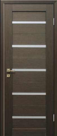 Дверь GreenLine X-7, стекло белое, цвет венге, остекленная