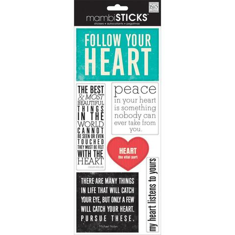 Стикеры mambi Specialty Stickers Follow Your Heart 13х30 см