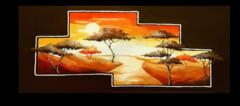 """Постер """"Деревья на закате"""""""