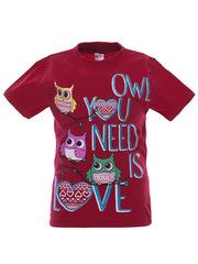 BK002F-15 футболка для девочек, малиновая