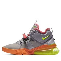 Кроссовки мужские Nike Air Force 270 Grey Orange Green