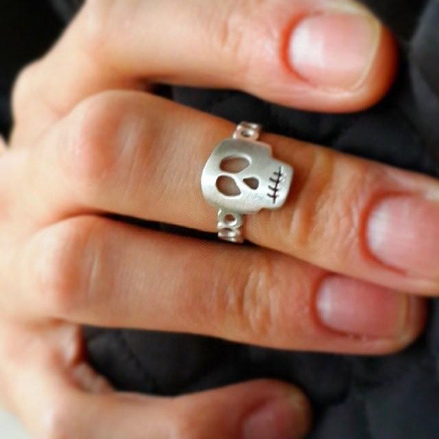 Skull Ring, Sterling Silver