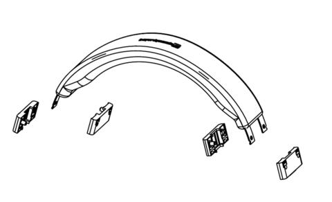beyerdynamic Head bow black for T 1 and T 5p  2nd Gen., оголовье для наушников (#916137)