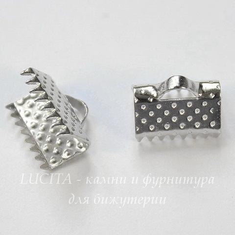 Концевик для лент 10 мм (цвет - платина), 10 штук