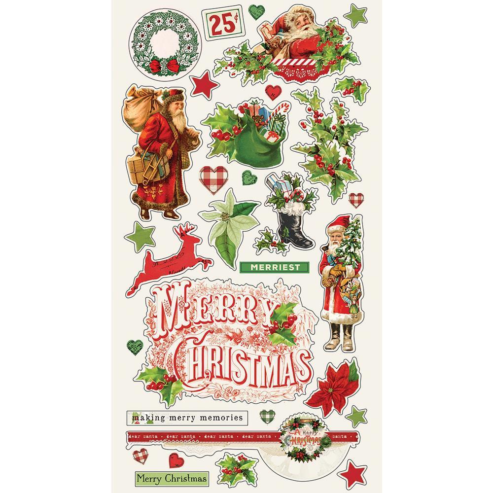 Чипборд Simple Vintage Christmas - 32шт