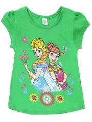 D002-16 футболка для девочек, зеленая
