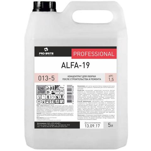 Профессиональная химия Pro-Brite ALFA-19 5л (013-5),уборка после ремонта