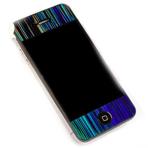 """Пленка защитная 3D """"дождь"""" для iPhone 4G/4S две стороны"""