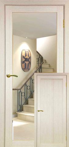 > Экошпон Optima Porte Турин 501.1, зеркало, цвет беленый дуб, зеркало