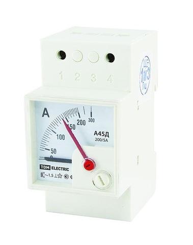 Амперметр А45Д  200/5А-1,5 (din-рейка) TDM