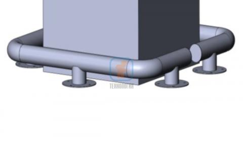 КМ-600/76х3 для колонн на ножках