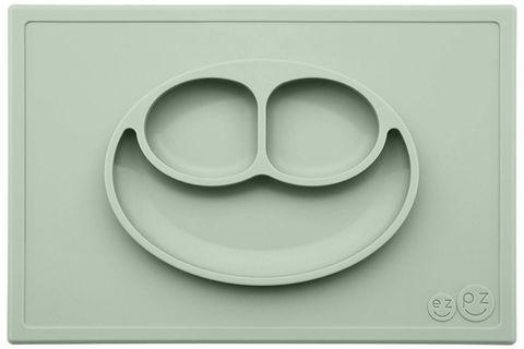 Тарелка с подставкой Ezpz Happy Mat Pewter, ezpz