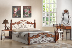 Кровать PS 8812 200x160 (MK-1923-RO) Темная вишня