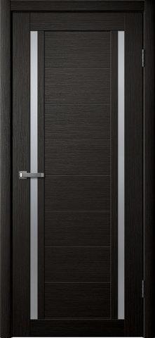 Дверь Porte line Берлин 23, стекло матовое, цвет венге 3D, остекленная