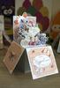 """036_9946 Pop-up открытка-коробочка """"Цветочные поздравления"""""""