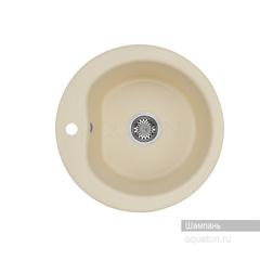 Мойка Акватон Мида 1A712732MD290 для кухни из искусственного камня, шампань