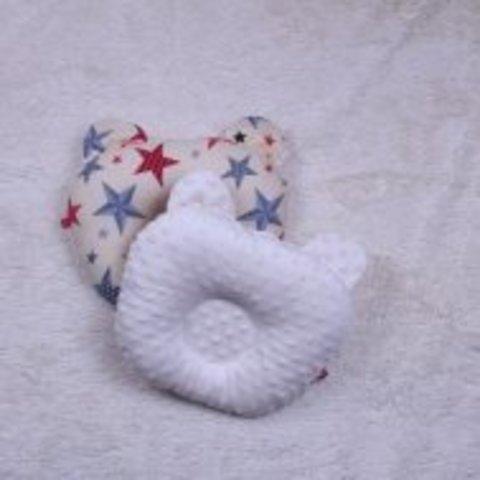 Плюшевая подушка для новорожденных Звездочка беж
