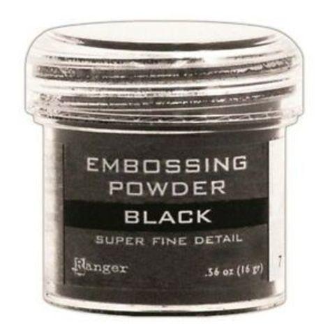 Пудра для эмбоссинга Ranger Ink- BLACK super fine detail