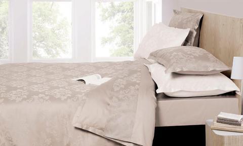 Постельное белье 2 спальное евро Bovi Барокко серо-бежевое