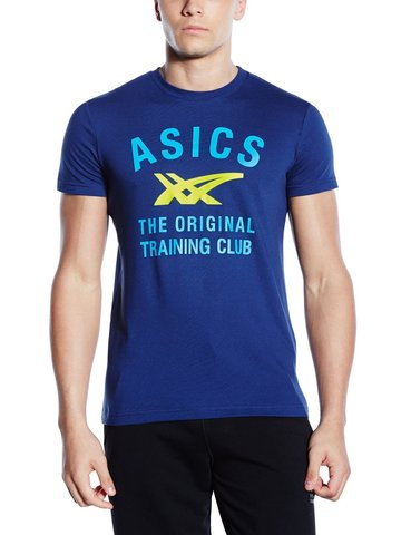 Футболка Asics SS Stripes Tee мужская blue