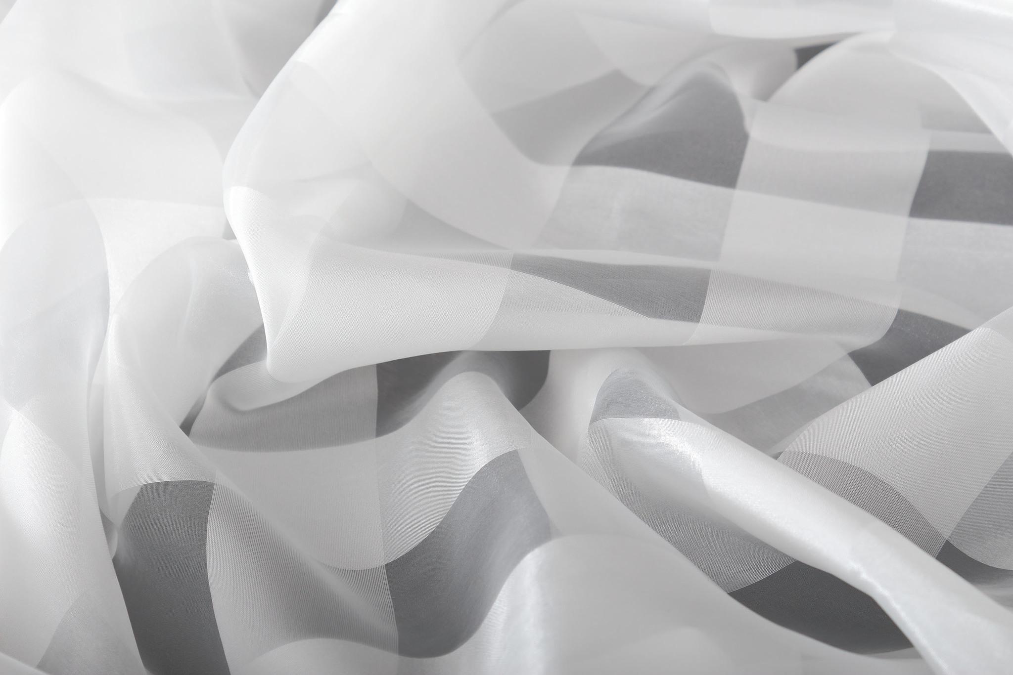Штора. Тюль Чеккер-2 (белый)