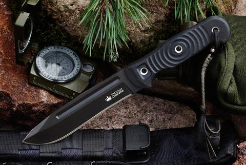 Туристический нож Maximus D2 Black Titanium