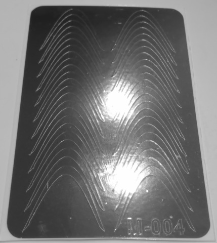 Металлизированные наклейки для ногтей М-004 серебро