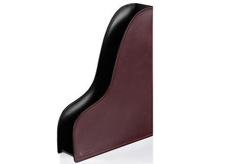 Лоток А4 вертикальный BUVARDO PREMIUM из кожи  Full Grain Brown/Cuoietto черный