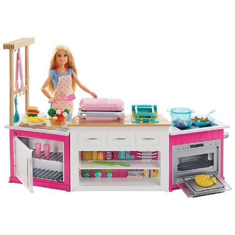 Барби набор Кухня со световыми и звуковыми эффектами