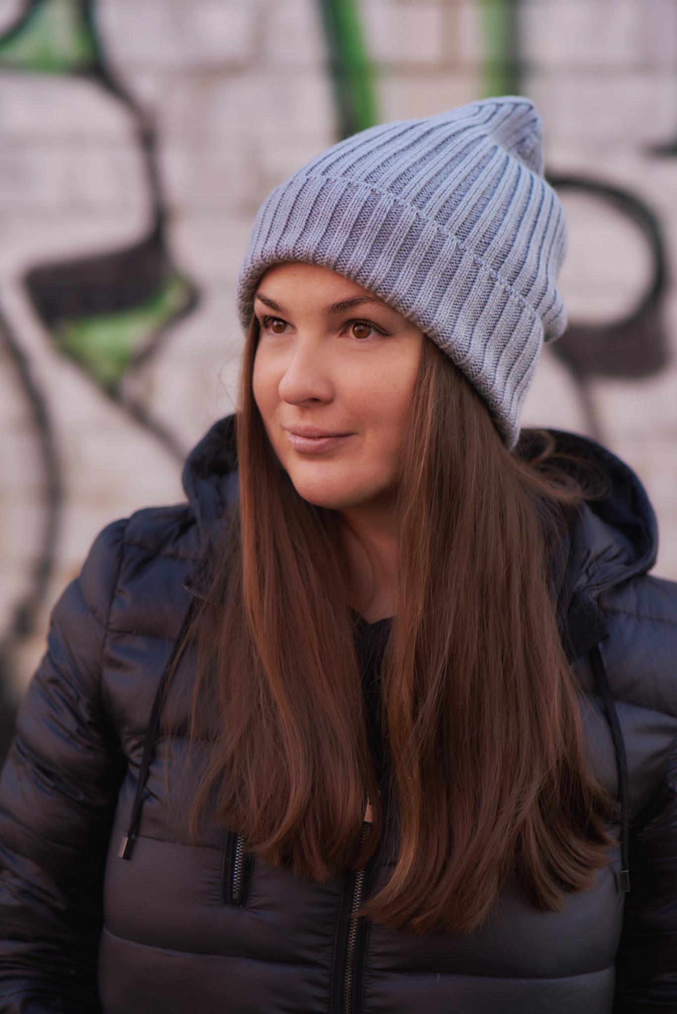 Комплект вязаный шапка снуд цвет Сталь серый SASHA JUNIOR