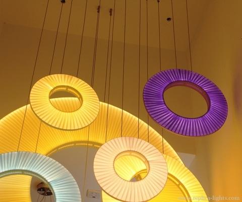 replica IRIS round  pendant by Dix heures dix ( violet  )