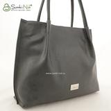 Сумка Саломея 960 серый + черный