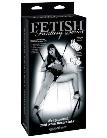 Фиксация на кровать Fetish Fantasy Series Limited Edition Wraparound Mattress Restraints - Black