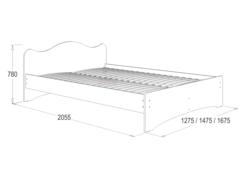 Кровать №3 с фигурной спинкой