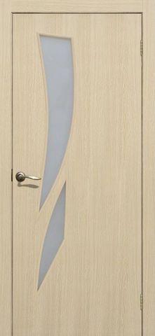 Дверь Сибирь Профиль Стрелиция, цвет бьянко 3D, остекленная