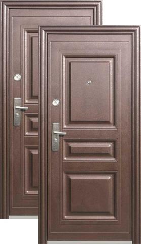 Дверь входная Кайзер К 700, 1 замок, 0,8 мм  металл, (медь+медь)
