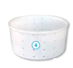 Круглая форма для сыра без крышки (190 х 180 х 93 мм.)