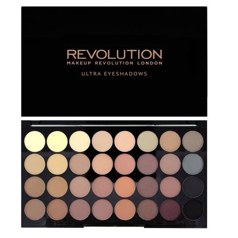 Палетка матовых теней MakeUp Revolution Ultra 32 Shade Eyeshadow Palette FLAWLESS MATTE. (UK)