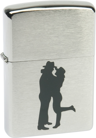 Зажигалка ZIPPO Classic Brushed Chrome™ ZP-200 Cowboy Couple