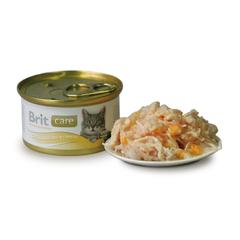 Brit Care Chicken Breast&Cheese Куриная грудка и сыр, консервы д/кошек, 80г