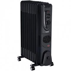 Обогреватель масляный 9-секционный с вентилятором D49F-9 черный