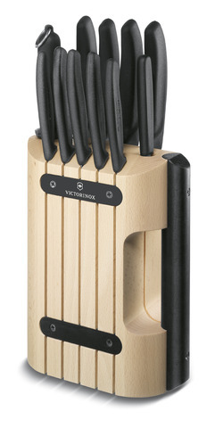 Подставка Victorinox для ножей, с черной ручкой, дерево